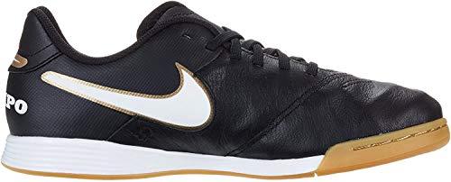 Nike Tiempo Legend VI FG Jr Unisex-Kinder Fußballschuhe, Schwarz (Schwarz/Weiß/Gold), 38.5 EU