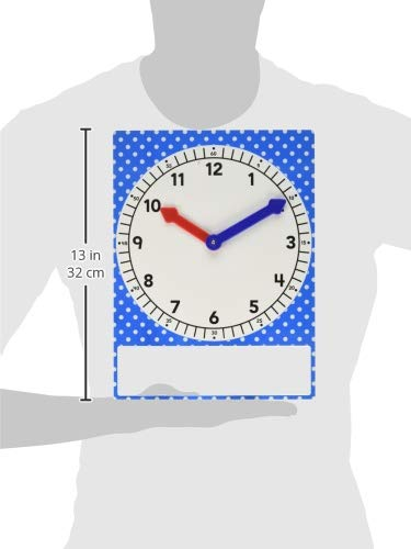 Teacher Created Resources Magnetic Foam Geared Clock, Large (20710),Multi Photo #3