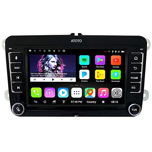 Navigazione GPS per auto Android ATOTO A6 con Bluetooth doppio e ricarica rapida - per selezionare Volkswagen/VW - Premium A6YVW710PB 1G/16G Radio multimediale Indash, WiFi/BT Tethering Internet