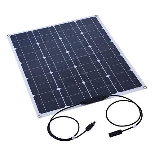Zonnepaneel, ASHATA 80W Semi Flexibel Zonnepaneel Monokristallijn Lichtgewicht Shell Solar Module Acculader voor Thuis/Boot/Jacht/RV/Cabine/Tent/Auto