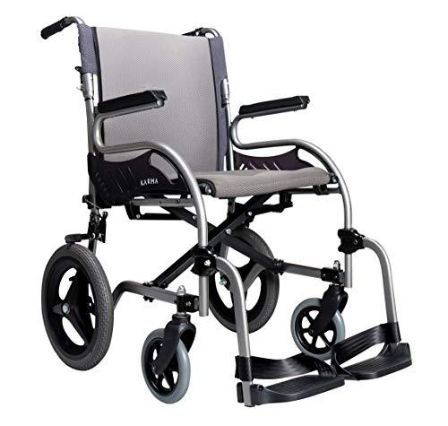 Karman Healthcare Star 2 Lightweight Transport Wheelchair With Companion Brakes, 28 Pound