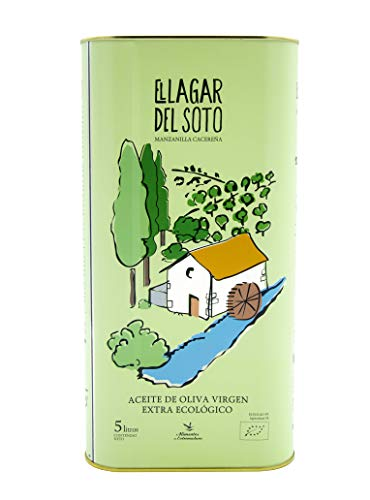 Aceite de Oliva Virgen Extra Ecológico Lata 5 litros – Primera Extracción en Frio - Mejor aceite Bio de Extremadura 2019. Medalla de oro Ecotrama 2019 – AOVE 5L