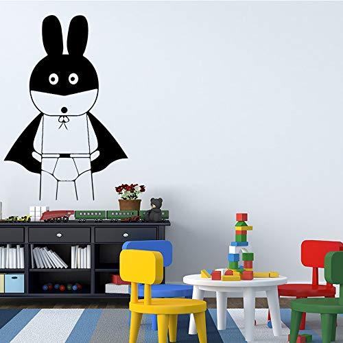 WERWN Divertido Dibujo Animado Conejo Papel Pintado decoración Sala de Estar decoración Chica Dormitorio Etiqueta de la Pared