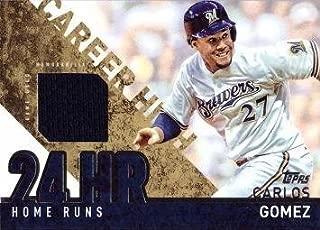 2015 Topps Career High Relics #CRH-CG Carlos Gomez Game Worn Jersey Baseball Card