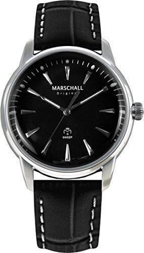 Marschall Original Planeo Negro Claro - Orologio da polso radiocontrollato da uomo analogico quarzo