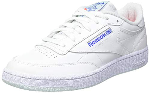 Reebok Herren Club C 85 Sneaker, White/Chalk Blue/Court Blue, 43 EU