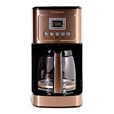 Cuisinart DCC-3200CS Perfectemp Coffee Maker, 14 Cup Progammable with Glass Carafe, Copper Steel