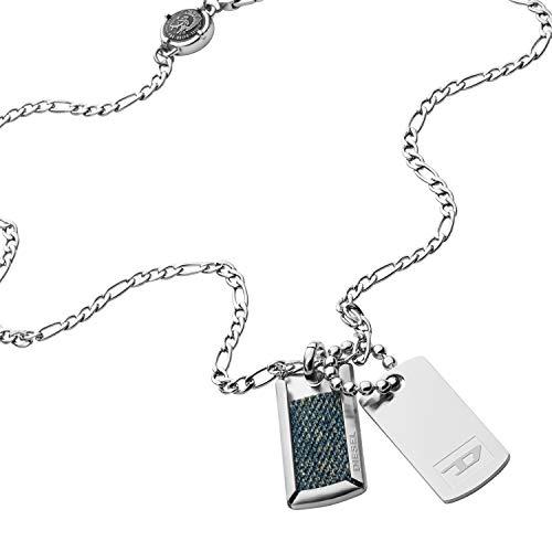Diesel Halskette zwei Erkennungsmarken Edelstahl, DX1246040