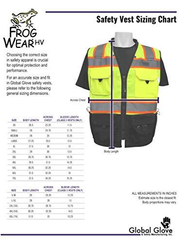 GLO-059 2X-Large High-Visibility Premium Surveyors Safety Vest FrogWear HV