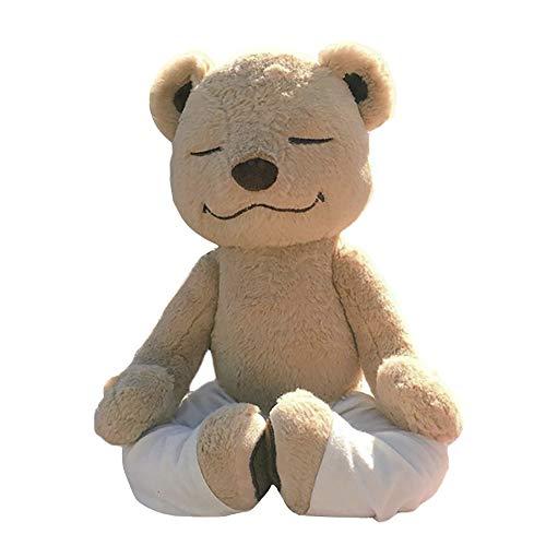 JIESD-Z Flexibler Yoga-Bär, anpassbare Körperhaltung, Plüschtier Plüschbär mit weißer Hose für Kinder, Erwachsene, Geburtstag