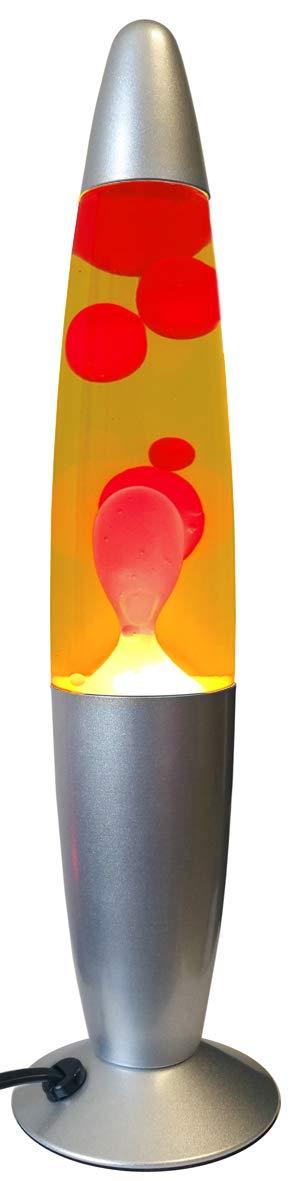 Lampara Sobremesa Lava 40 cm Rojo-Amarillo