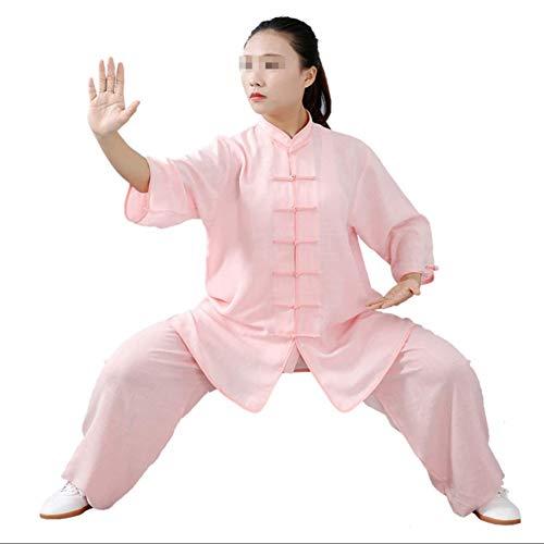 GAO-bo Tai Chi Kung-Fu, Taiji Ropa Tang Juego de los Hombres/Mujeres Wing Chun Tai Chi Fina y Transpirable Camisas y Pantalones (Color : K, Size : Small)