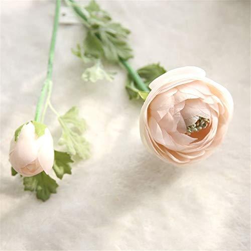 GGDMLJH Künstliche gefälschte Blume 2 Teile/los 3 Köpfe Gefälschte Calla Blume Schöne Ranunkel Rose Blumen Silk Flores Für HaupthochzeitsdekorationRosa