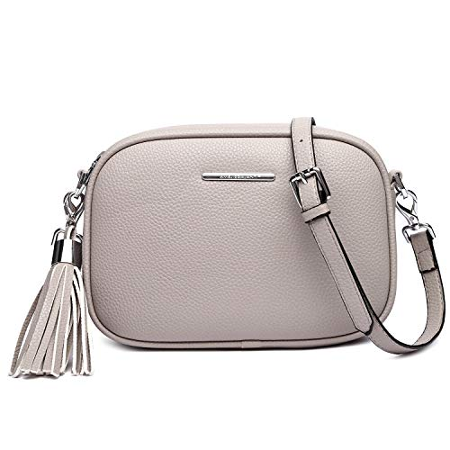 Crossbody Bag for Women, Purses and Handbags Leather Shoulder Bag with Detachable Strap and Tassel