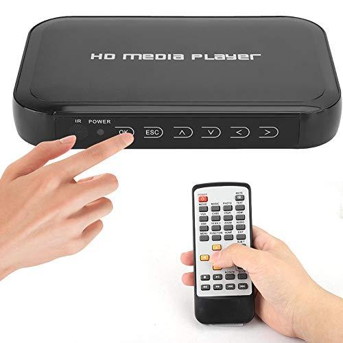 Reproductor HDMI, Mini Reproductor Multimedia HDMI 1080P, es Compatible con la Tarjeta SD/MMC, Disco U, Disco Duro móvil, Reproductor de Disco Duro de Video para el Sistema de Cine en casa.(EU)