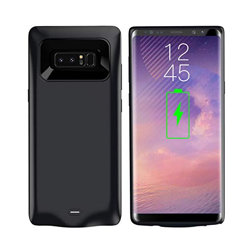 AEDLYK Galaxy Note 8 Battery Case 5500mAh Portable Rechargeable External Battery Pack for Samsung Galaxy Note 8 Charger Case Slim Note 8 Protective Charging Case(Black)