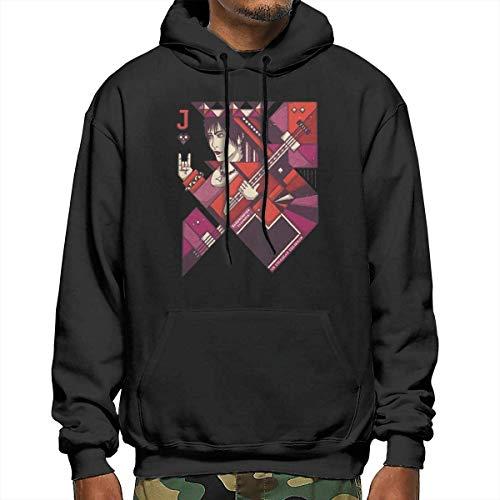 Funny Joan Jett Mens Hoodies Fashion Long Sleeve Pullover Hooded Sweatshirt XL