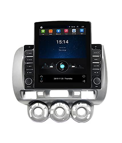 ADMLZQQ Android Bluetooth Pantalla Vertical NavegacióN para AutomóVil Radio EstéReo Host GPS De 9.7 Pulgadas para Volante A La Izquierda Honda Jazz City 2002-2007, Soporte WiFi/CáMara Trasera/