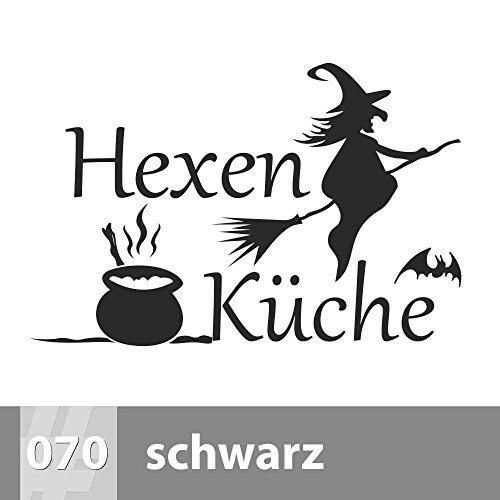 premiumsticker24 Hexenküche 2, Spruch Wandtattoo 115cm x 75cm, XL, 070 schwarz
