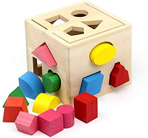 ? Wood blok puzzel activiteiten t speelgoed - houten Shape Classifier leren speelgoed gaven te ontwikkelen for jongens en meisjes een klein aantal van educatief speelgoed (kleur: Multi-gekleurde, Gr ?