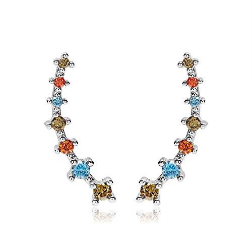 Cubic Zirconia Crawler Earrings OKAJEWELRY 0401008013-2 Ear Climber Earring Women Ear Cuff Earring