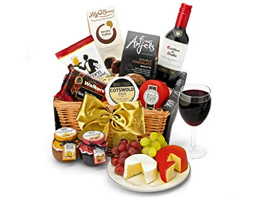 Downton Hamper With Red Wine