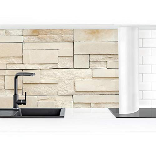 Bilderwelten Küchenrückwand Folie selbstklebend wasserfest Provence Stones 50 x 400 cm Smart