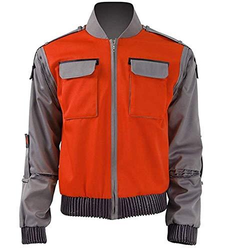Zhangjianwangluokeji Amerikanische Sciencefiction-Film Marty McFly Jr Herren Jacke Kostüme (3XL, Stil 1)