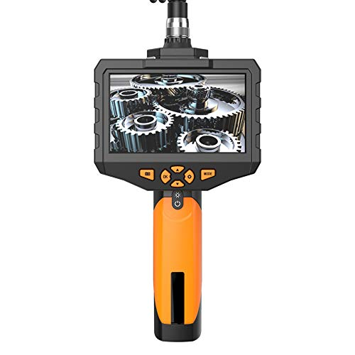 MOOLFN Endoscopio de Lente Dual,  inspección de boroscopio de cámara Dual 1080P con Monitor HD de 4.5