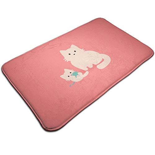 Felpudo de buceo con diseño de gato familiar, para interiores y exteriores, alfombrilla de bienvenida con respaldo de goma para raspador de zapatos, impermeable, fácil de limpiar