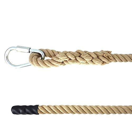 Kanirope® Kletterseil SPORT mit Augspleiß und Schraubglied verschiedene Längen Klettertau Seil (9 Meter)