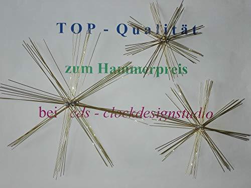 Drahtsterne Set für Perlensterne 30 Stück, Durchmesser 8-10-15 cm