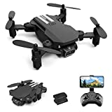 GoolRC Mini Drone for Kids and Adults, LS-MIN RC Quadcopter with 1080P Camera, 360° Flip, Gesture Photo/Video, Track Flight, Altitude Hold, Headless Mode, Include 2 Batteries (Black)
