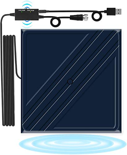 Digital HDTV Antenna, TV Antenna Indoor, 【2019 Upgraded】80-120 Miles Portable Digital Antenna, HD Antenna High Reception Amplified Signal Booster Support 4K1080P HD Free Channels,16ft Coaxial Adapter