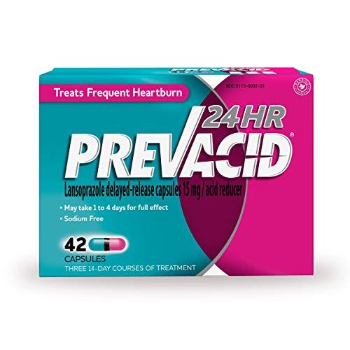 Prevacid 24HR Lansoprazole DelayedRelease Capsules 15 mg/Acid Reducer Proton Pump Inhibitor PPI for Heartburn Relief 42 Count