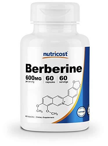 Nutricost Berberine HCl 600mg, 60 Capsules - Gluten Free, Vegetarian Caps, Non-GMO (60 Caps)
