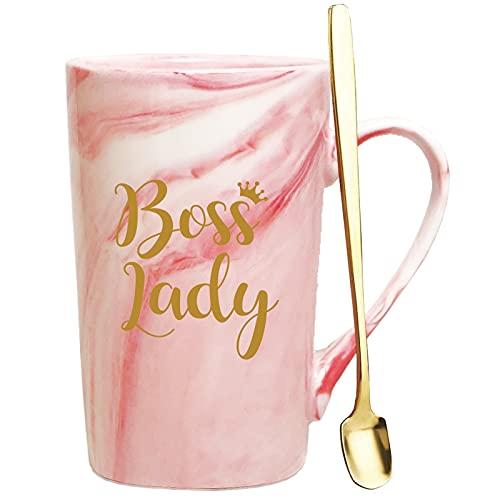 Boss Lady Coffee Mug.Women Boss Lady Gifts for Female Friend Boss Woman.Appreciation Mug for Boss Day,Boss,Boss Lady.Birthday,Christmas Gifts for Boss Lady Cups 14 OZ(pink)