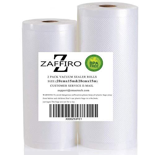 1 Vakuumrollen 28cm x 15m (Vakuumbeutel) und 1 Vakuumrollen 20 x 15m für Lebensmittel | Vakuumier-Folie | Sous-vide | Profi-Qualität für Folienschweißgeräte