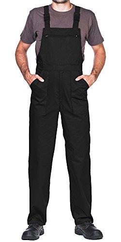 ProWear Arbeitslatzhose Herren Größen S-XXXL Arbeitshose Latzhose arbeits Latzhose Arbeitskleidung (S, schwarz)