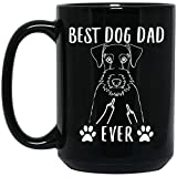 N\A Divertido Mejor Airedale Terrier papá Siempre Dedo Medio Taza de café Negro