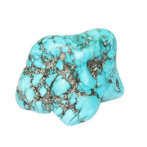 GEMHUB A Grade Natural Raw Rough Blue Turquoise 130.00 Carat Healing Crystal Smooth Rough Nugget Gemstone