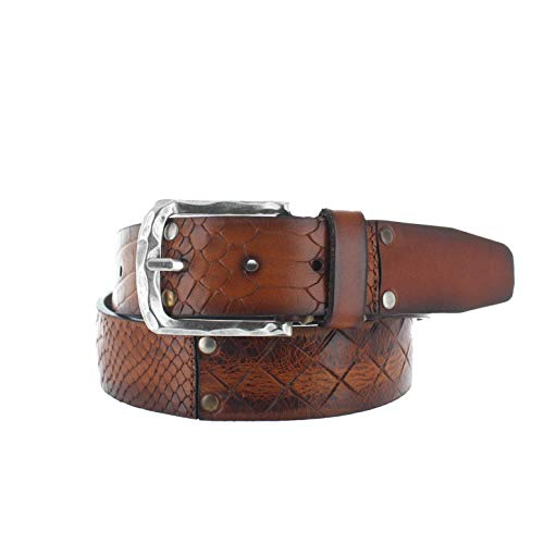 Vintage leren jeans riem | Multi | 40 mm Breed