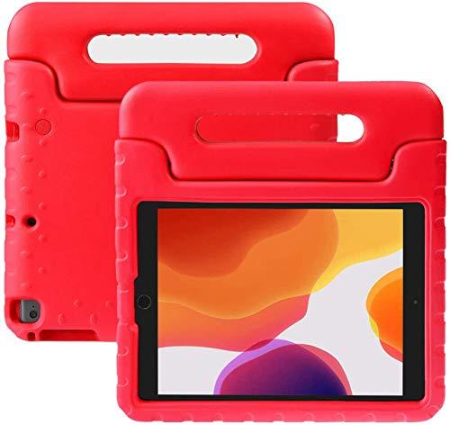 Cover Nuovo iPad 2018 2017 9.7 pollici, NEWSTYLE Custodia Protettiva Antiurto con Supporto Maniglia per Bambini per Apple New iPad 2017 2018 9.7 Inch iPad Air iPad Air 2 Tablet (Rosso)