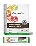 CocoaVia Heart and Brain Supplement, Unsweetened Dark Chocolate Drink Mix, 450 mg of Cocoa Flavanols to Support Heart Health, 30 Servings