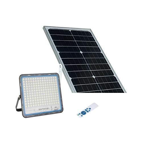 FARO FARETTO SOLARE 8200 DA ESTERNO 6500K 200W CON PANNELLO SOLARE E TELECOMANDO TIMER IP67 ESTERNO classe di efficienza energetica A energetica