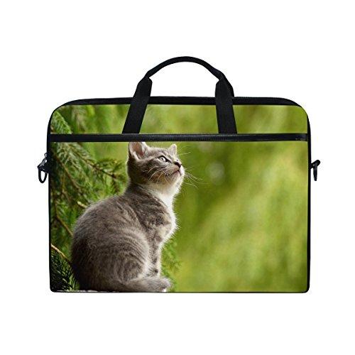 Ahomy 38,1–39,1cm Laptop Laptop, Kratzbaum Canvas Stoff Tasche zudem Handtasche mit Schultergurt für Damen und Herren