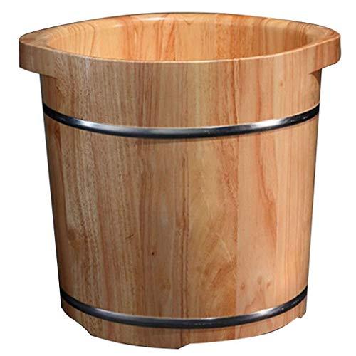 LJBXDCZ NJ vrijstaande badkuip – voet voor whirlpools voetenbad barril voetenwarmer van massief hout met deksel gezonde voet van hout kleine schaal voor de familie 3,3 Houtkleur.