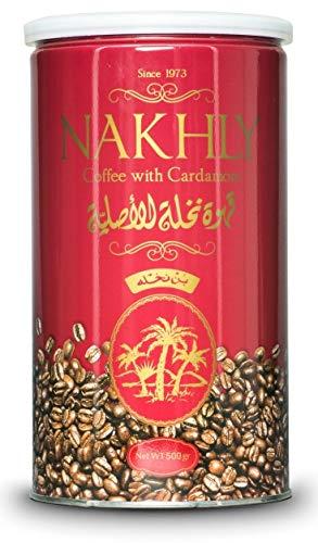"""Arabischer """"Nakhly""""-Kaffee - Türkischer Filterkaffee mit Kardamon, Fein gemahlener Röstkaffee in 500 Gramm Dose (1 Pack)"""