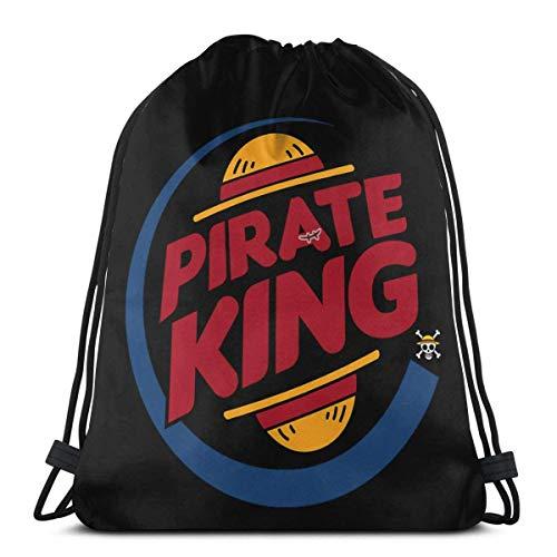 ANGSHI6 Pirate King One Piece Luffy Christmas Gifts Bolsas de Cuerdas Mochila Deportiva clásica Unisex Bolsa de Viaje Bolsa de Almacenamiento