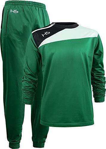 HS - Tuta Sportiva Power, Felpa con Zip Laterale e Pantalone Lungo, per Uomo e Donna